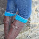 Bobble Boot Cuffs by HanJan Crochet Hannah Cross crochet pattern