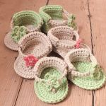 Baby Flower Sandals by HanJan Crochet Hannah Cross crochet pattern
