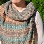 Golden Shimmer Shawl by HanJan Crochet Hannah Cross crochet pattern