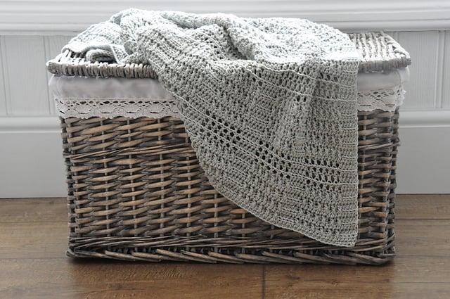 Silver Squares Blanket crochet baby blanket pattern by Hannah Cross HanJan Crochet