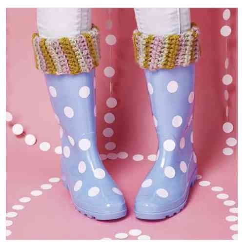 Simply Crochet Magazine Issue 37 spots and stripes wellie toppers by Hannah Cross HanJan Crochet