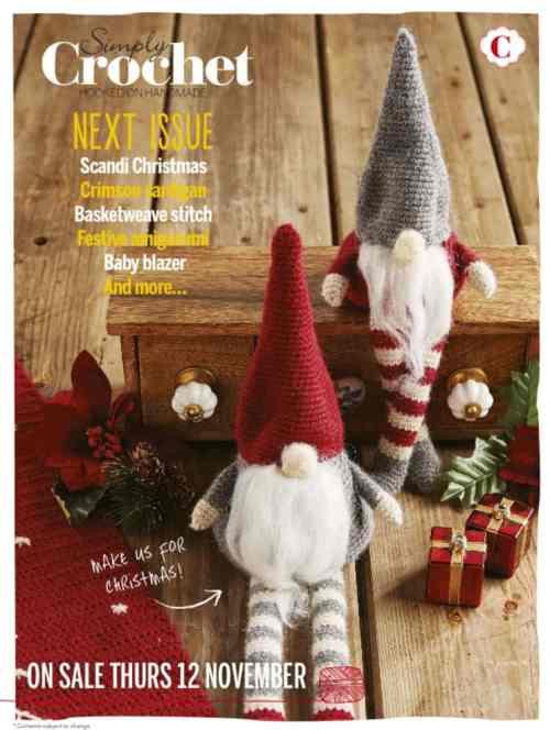 Crochet Christmas elves gnomes toys Simply Crochet magazine
