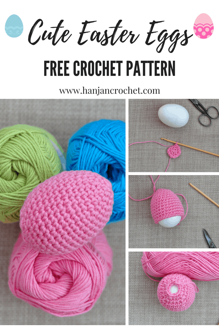 Crochet Easter Eggs – Free Crochet Pattern – HanJan Crochet