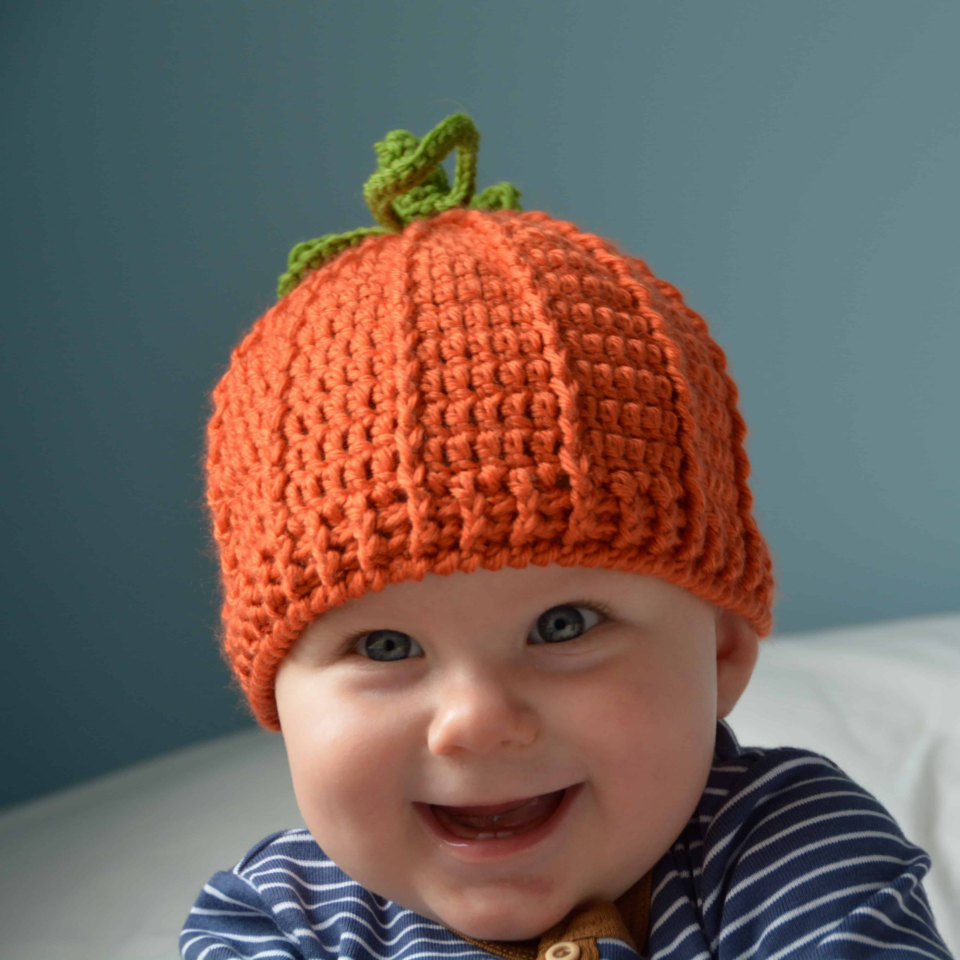 pumpkin crochet hat free pattern