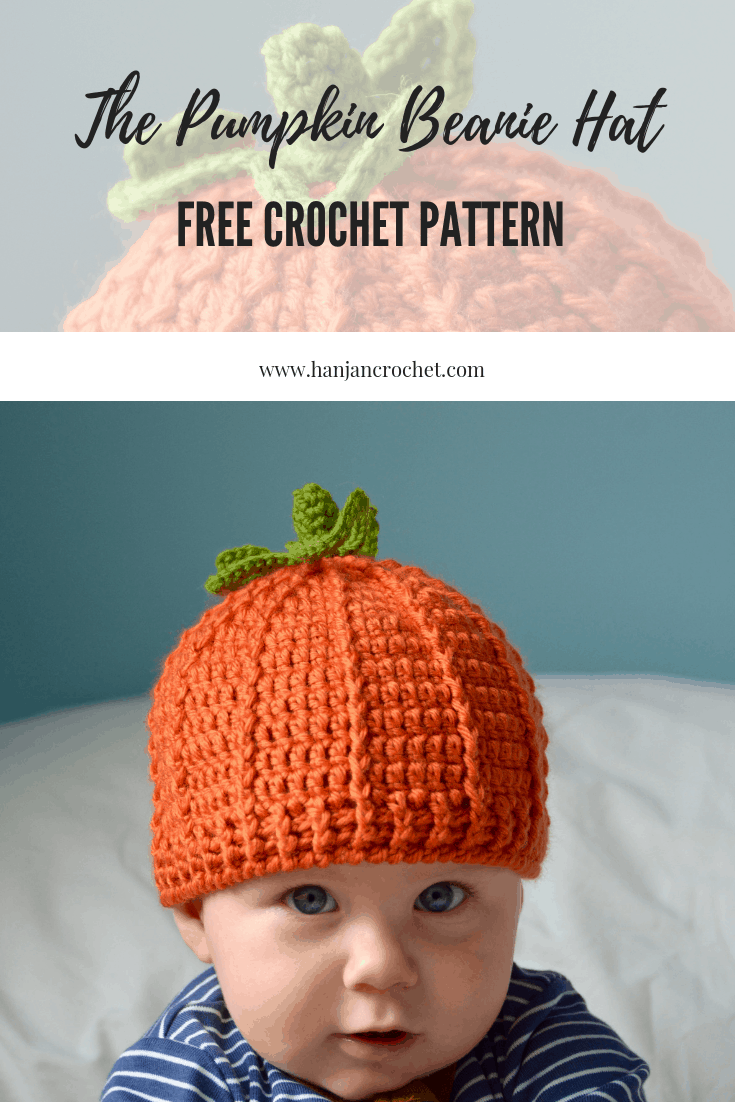 The Pumpkin Beanie Hat Free Crochet Pattern Hanjan Crochet
