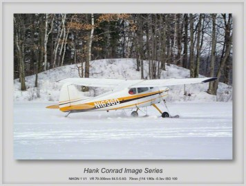 Cessna 170 on Skis