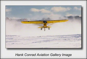 Piper Super Cub Snowy Takeoff