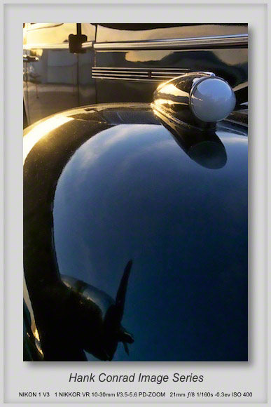Old Buick reflects B-17
