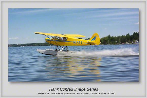 PA-18 on Skis Takeoff