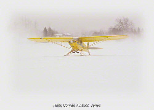 Piper Super Cub on Skis