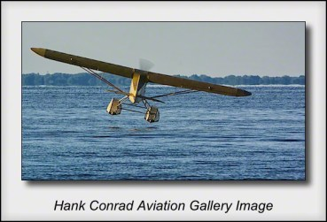 Piper J-3 Cub on Floats Landing
