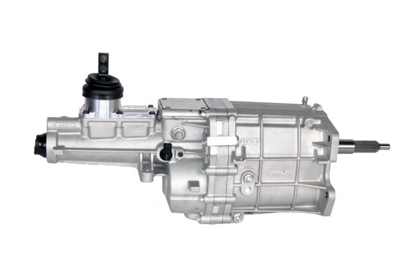 Big Power, Tremec, TKX Transmission, 600 lb.-ft. torque capacity, high rev, engines speeds of 8,000 RPMs, shifts at 7,500 RPMs, Input Shaft – 26 Spline, Output Shaft – 31 Spline, Lightweight, 99 lbs dry, Designed multiple applications, three shifter locations, Compact end-loaded design, clearance in transmission tunnels, without floor modifications, Increased case strength, three-piece construction, aluminum housing, provides outstanding structural stiffness, Gaskets at all flanges, simple installation, eliminates fluid leaks, Superior shift-ability, multi-cone synchronizers, hybrid synchronizer rings made tough, sintered bronze gears, carbon gears, shafts hardened, special grade steel, ASTM 4615, increased torque carrying capacity, specially equipped, high-performance, short-throw, billet aluminum shifter, isolates road noise, clean fitment, lightened case, crisp shifts, Robust design, internal (3) three-rail shift system, steel shift forks, Gear Ratios 1st Gear 2.87 2nd Gear 1.89 3rd Gear 1.28 4th Gear 1.00 5th Gear 0.81