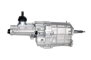 Big Power, Tremec, TKX Transmission, 600 lb.-ft. torque capacity, high rev, engines speeds of 8,000 RPMs, shifts at 7,500 RPMs, Input Shaft – 26 Spline, Output Shaft – 31 Spline, Lightweight, 99 lbs dry, Designed multiple applications, three shifter locations, Compact end-loaded design, clearance in transmission tunnels, without floor modifications, Increased case strength, three-piece construction, aluminum housing, provides outstanding structural stiffness, Gaskets at all flanges, simple installation, eliminates fluid leaks, Superior shift-ability, multi-cone synchronizers, hybrid synchronizer rings made tough, sintered bronze gears, carbon gears, shafts hardened, special grade steel, ASTM 4615, increased torque carrying capacity, specially equipped, high-performance, short-throw, billet aluminum shifter, isolates road noise, clean fitment, lightened case, crisp shifts, Robust design, internal (3) three-rail shift system, steel shift forks, Gear Ratios 1st Gear 2.87 2nd Gear 1.89 3rd Gear 1.28 4th Gear 1.00 5th Gear 0.68
