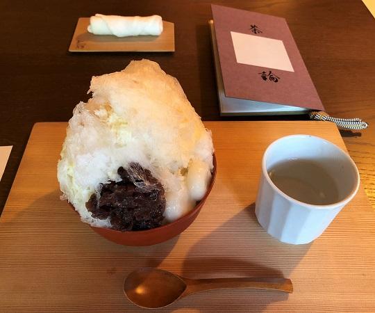 ★奈良「茶論 奈良町店」の白いかき氷