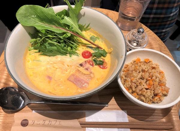 ★20181209タニタカフェ有楽町店。「トマトチーズの豆乳クリームフォー」
