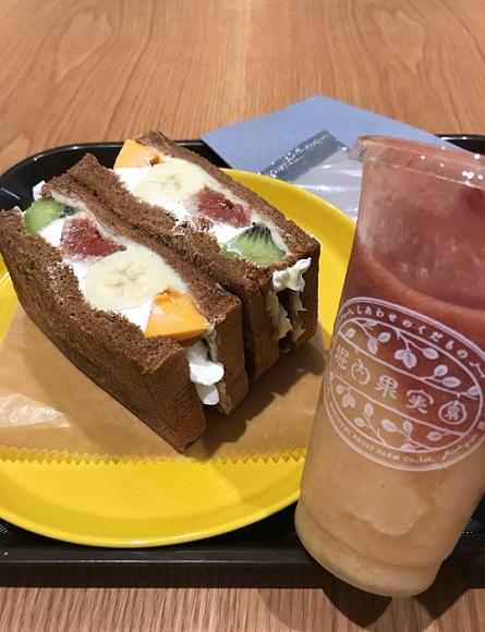 奈良・堀内果樹園のフルーツサンドイッチ