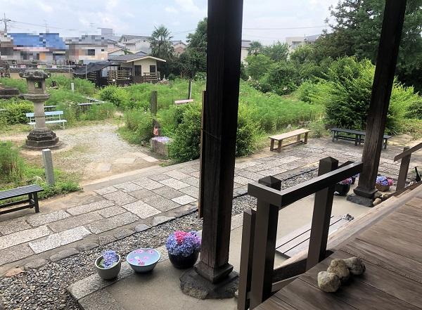 静寂に包まれる奈良・般若寺。キレイなあじさいを足元に見ながら、ぽーっとする