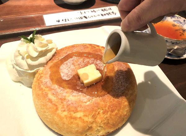 202106神保町のカフェ「TAMTAM(タムタム)」の石釜焼ホットケーキ