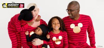 Matching Mickey pajamas for the family