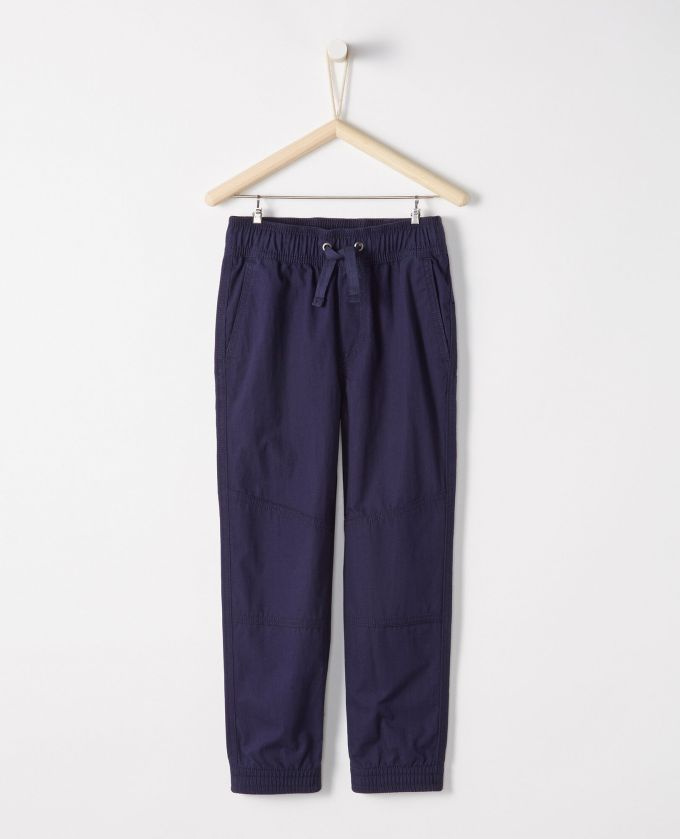 Double Knee Peached Canvas Joggers