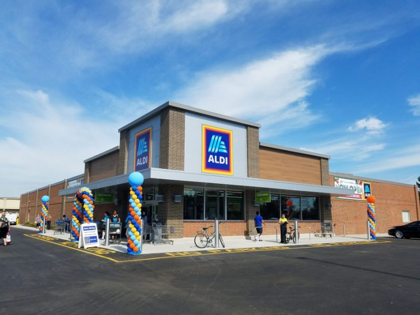 Grand re-opening ALDI Grocery Store- Arlington Heights, Illinois