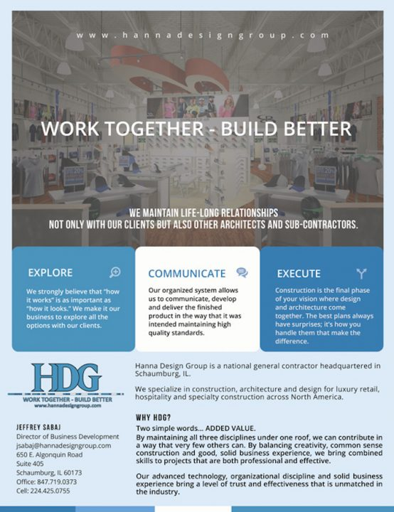 Hanna Design Group- What we do