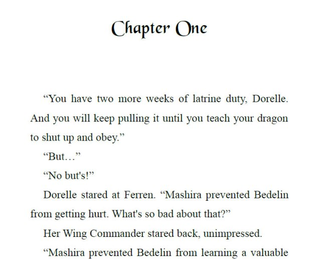 Chapter Header Chapter One
