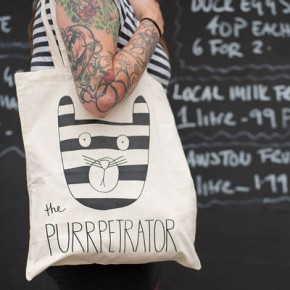'The Purrpetrator'  Tote bag, Notonthehighstreet.com, £10
