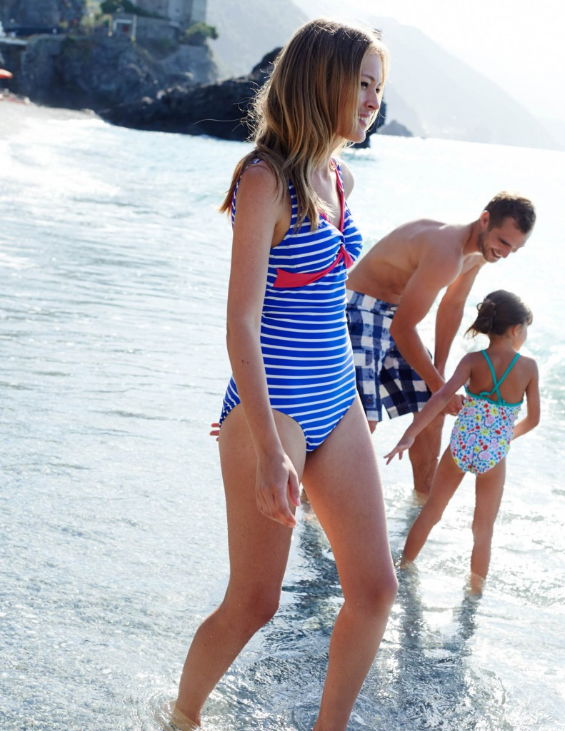 Twist front swimsuit, boden