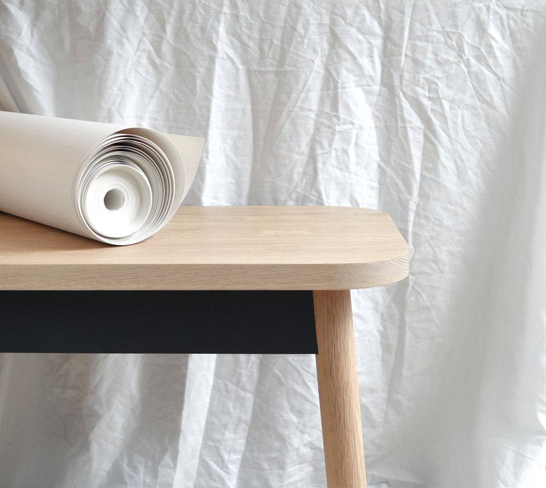 Paper and bench