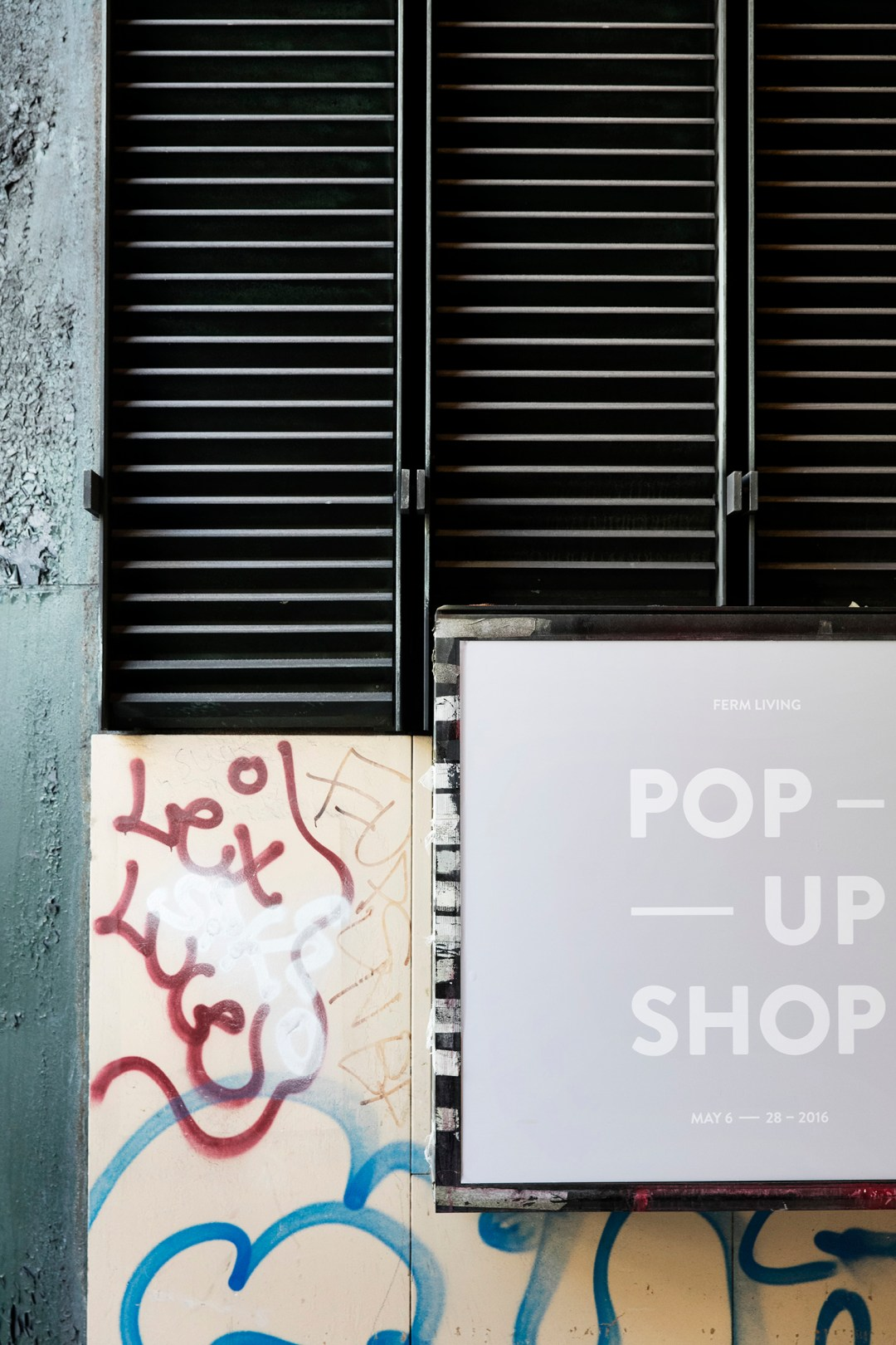 ferm LIVING pop up shop
