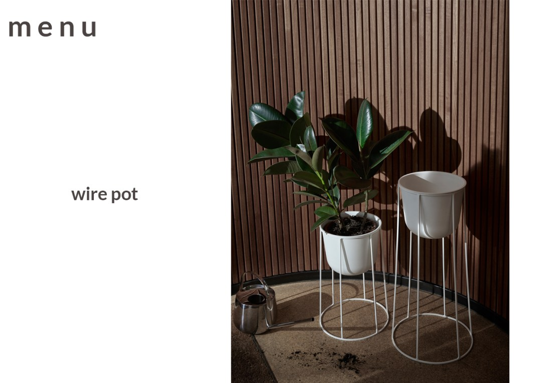 stylish plant pots - menu wire pot