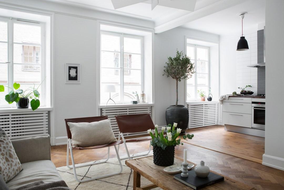 A Swedish living room, Scandinavian home design