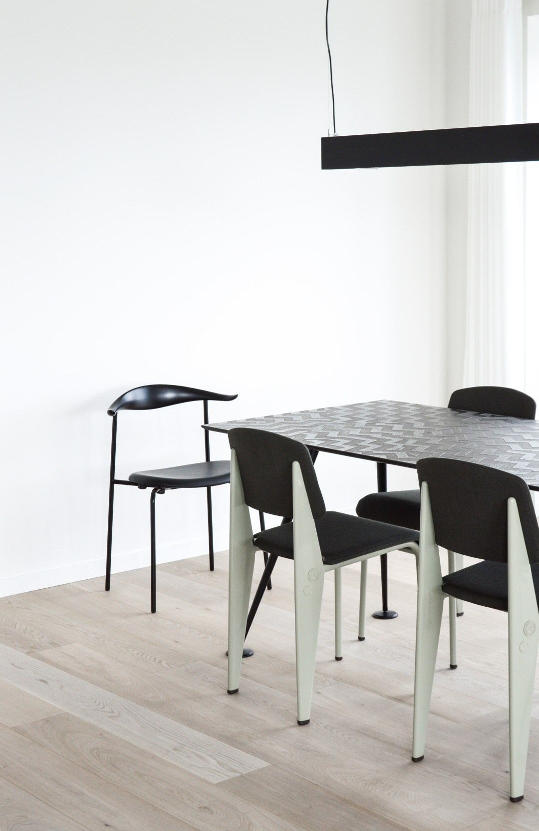A Scandinavian minimalist dining area, Stay Seaport, Copenhagen