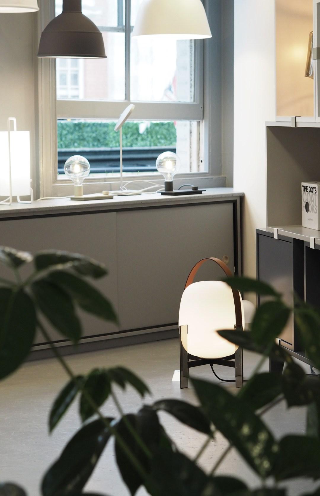 Lighting in Skandium, Scandinavian design shop London