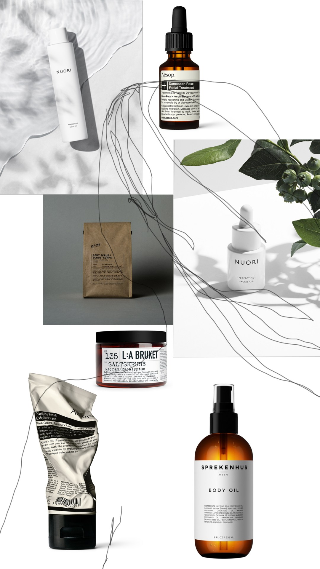 Scandinavian and minimalist skincare , Danish and Swedish skin care