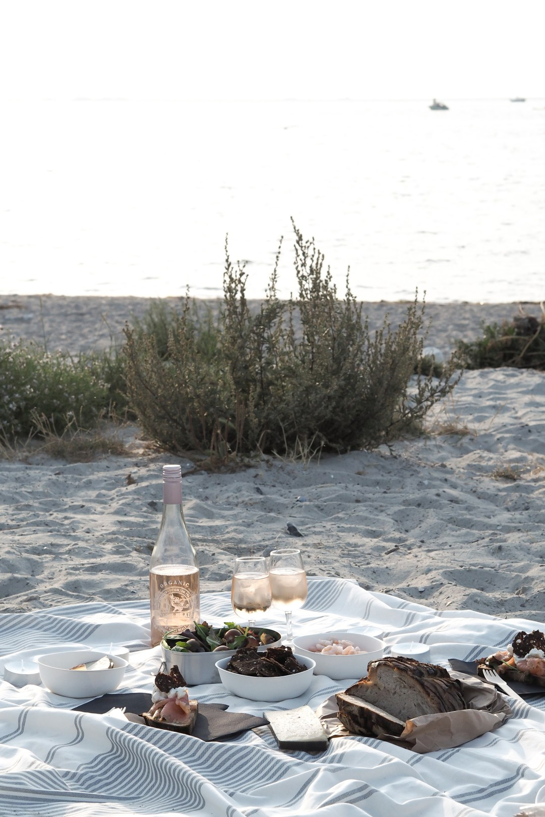 A picnic on the beach in Malmö
