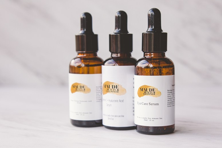 Commercial Brand Photographer Maude Skincare Product Photos
