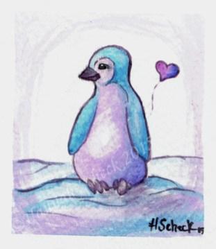 "Watercolor painting ""Penguin"""