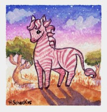 "Watercolor painting ""Zebra"""