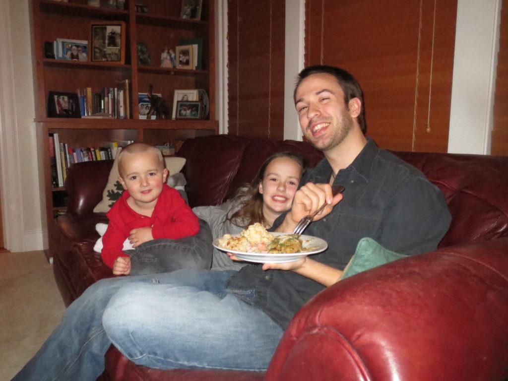 Jack, Ally & David at dinner