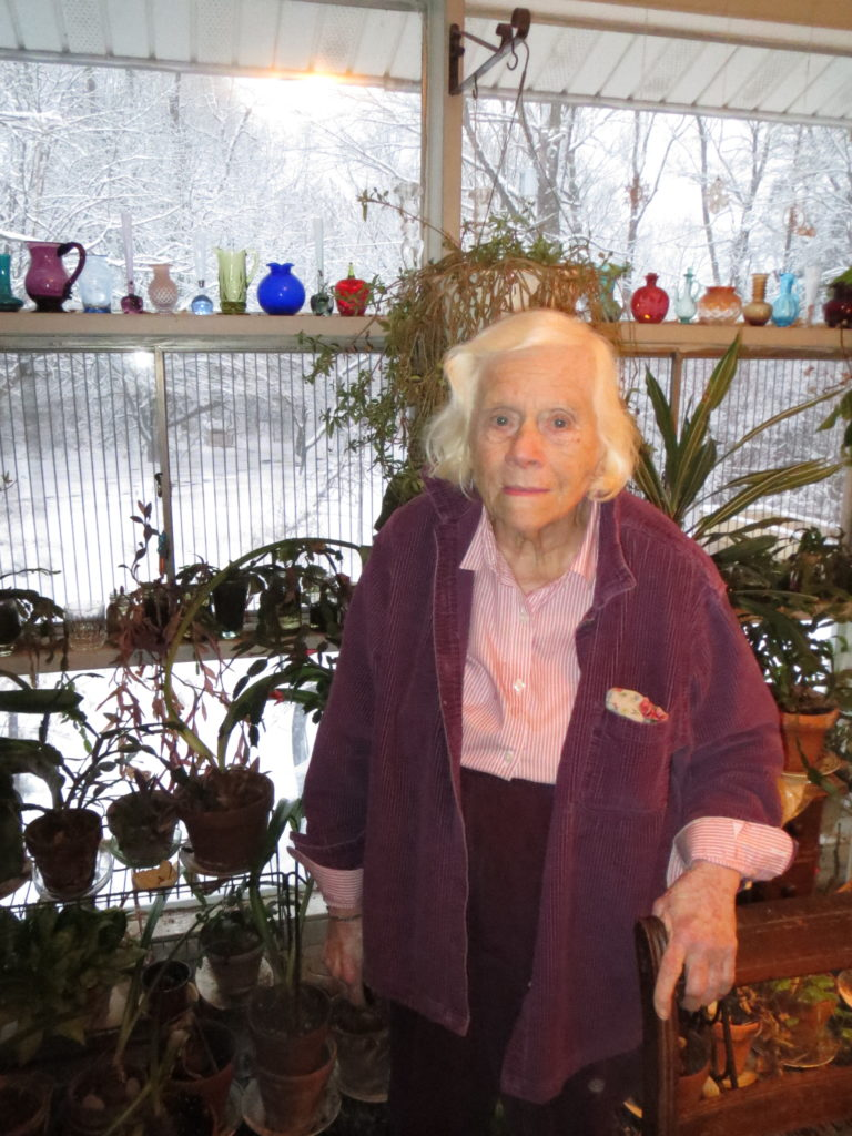Grandma with a few of her plants