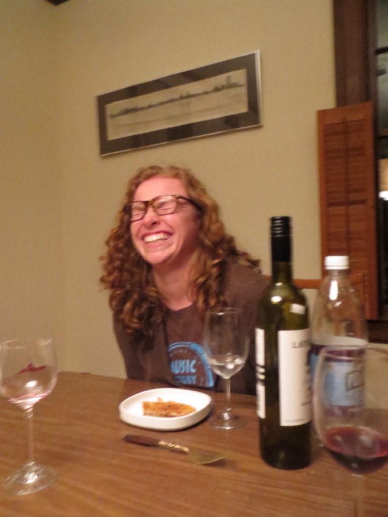 Melissa laughting