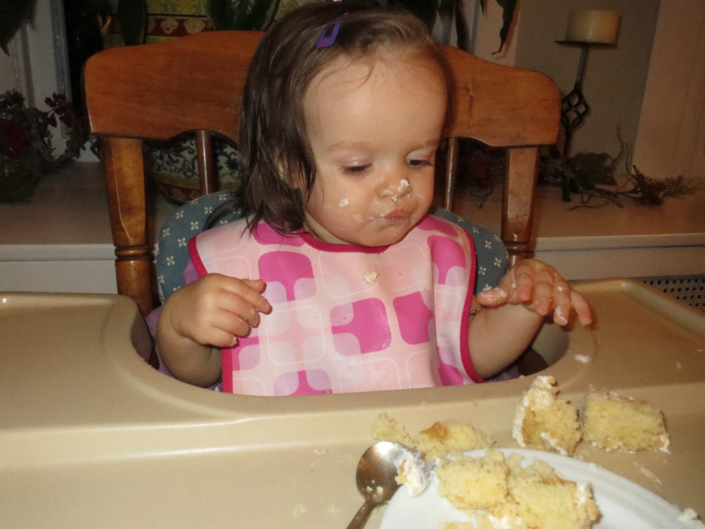 lydia tries cake