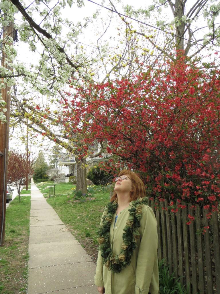 Mom in spring