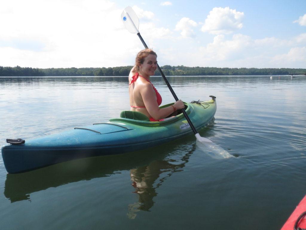 Hannah kayaks