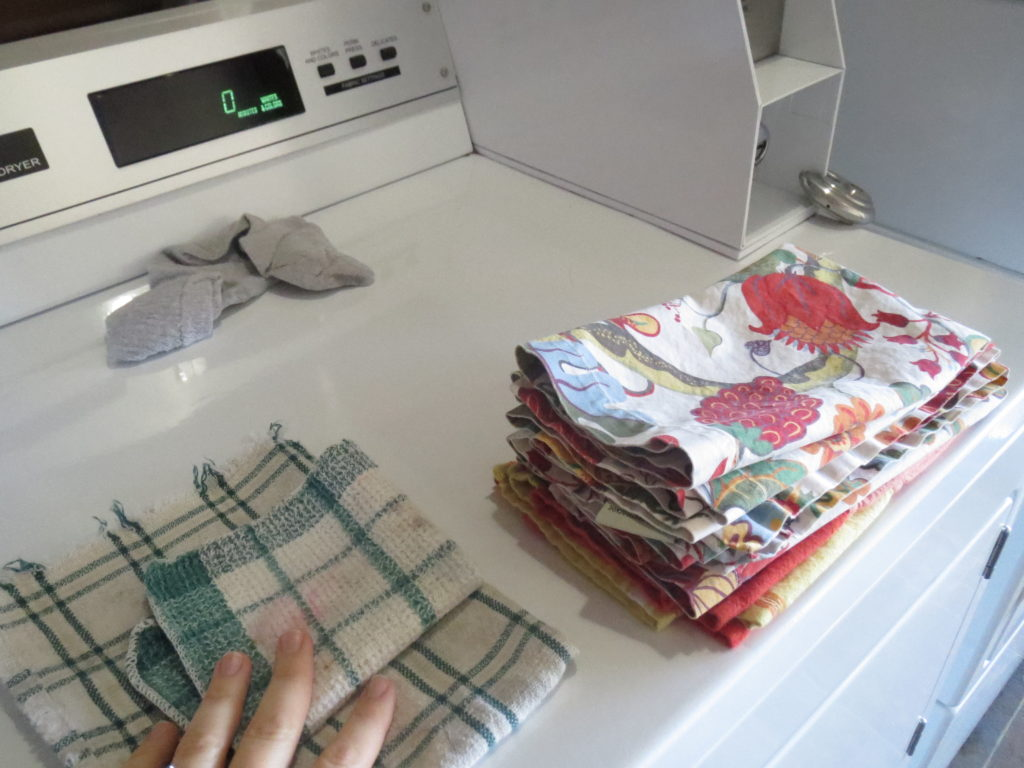 napkins, dishcloths, someone else's sock