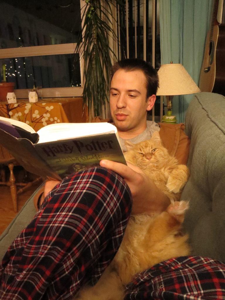 reading Harry Potter
