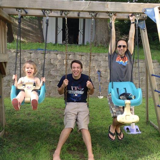 Ellie, David, and Dan enjoy some playtime