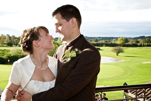 Simone & John at the Kendleshire Golf club